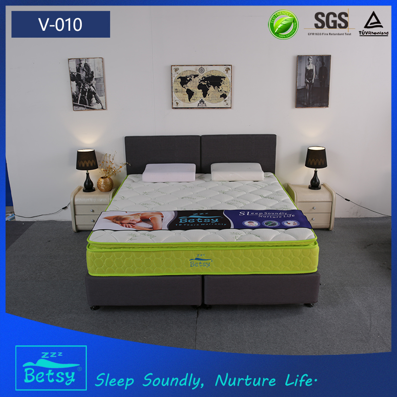 Bedroom furnitures mattress bamboo fabric 28cm with relaxing pocket spring and resilient foam - Jozy Mattress | Jozy.net