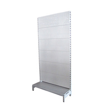 Supermarket pegboard <strong>shelf</strong> single side wall <strong>shelves</strong> retail goods display <strong>shelf</strong>