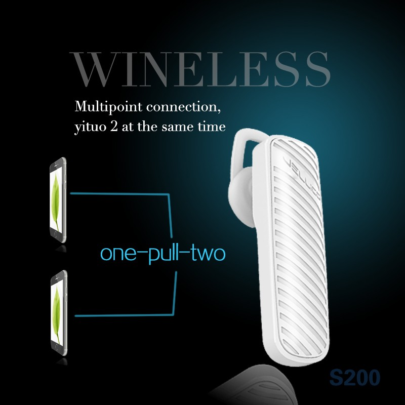 S200 2016 new mini wireless bluetooth earphone mobile headphone for samsung galaxy s7 top quality factory free sample