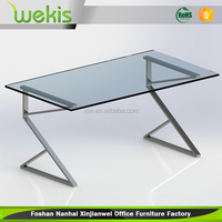 Modern executive 1.2mm iron steel office table design photos with powder coating