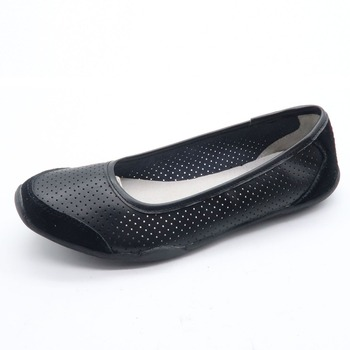 Women's round toe faux leather slip on boat ballet flat shoes
