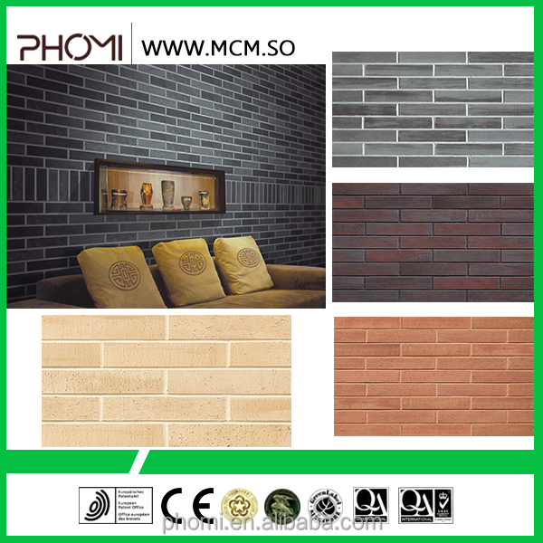 Anti-slip flexible clay waterproof durability light weight suitable for high-rises brick wall coverings