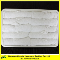 Promotional White Plain Cheap Square Cotton Small Towel For Airplane