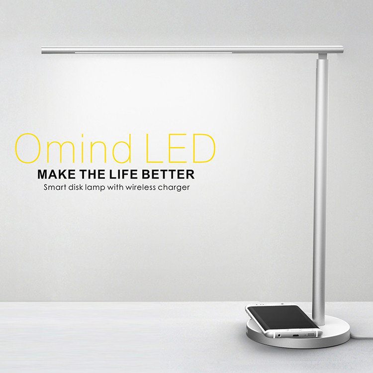 With Qi Wireless Desktop Charger Dimmable Lamp For iPhone 8 plus, iPhone X,