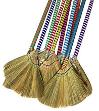 Hand made straw soft Broom with colored/Natural Grass Soft Sweeping Broom Made