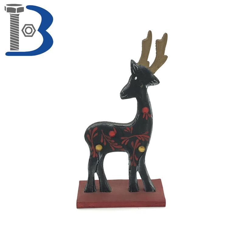Top supplier X'mas home black Wooden deer ornament