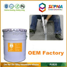 Top quality One component OEM Self-Leveling Fuel resistant PU concrete road repair adhesive