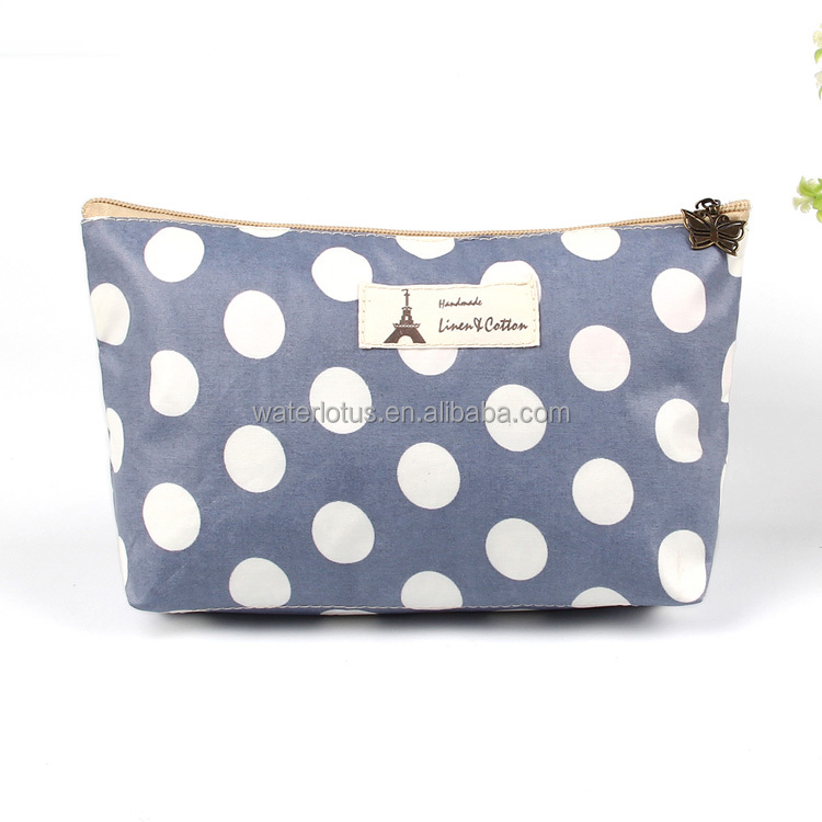 Wholesale Hot Selling Fashion Lady eco-friendly pvc cosmetic bag canvas cosmetic brush bag makeup bag