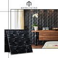 modern interior wall cladding marble price per square meter Black Marquina 3D marble wall tiles