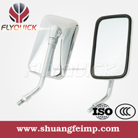FLYQUICK motorcycle motorbike racing bike side mirror chrome mirror for YAMAHA XV250 CHOPPER RC150GT
