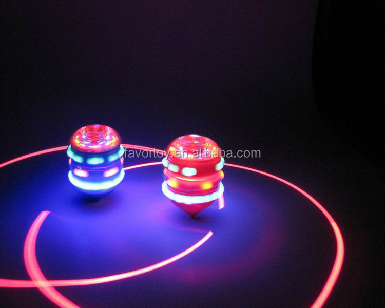 Wholesale children plastic infrared spinning top with light music