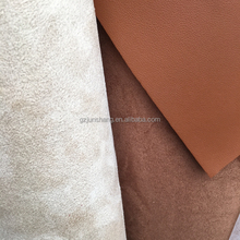 PVC leather for car seat, sofa and furniture usage with suede backing