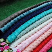 Multi colors can choose 10m MOQ China minky fabric wholesale