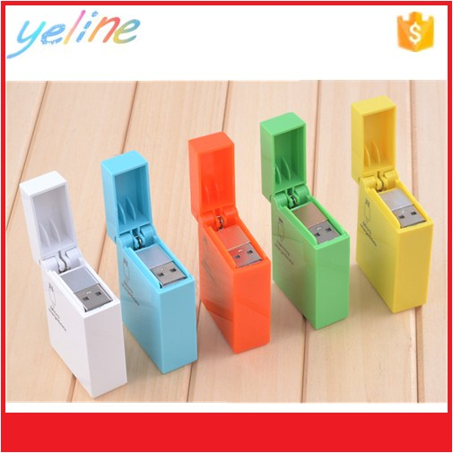 2016 new colorful portable USB charge lighter USB cable