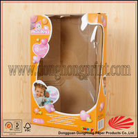 NEW cardboard gift boxes clear lid for baby toy and clothing packaging for sale