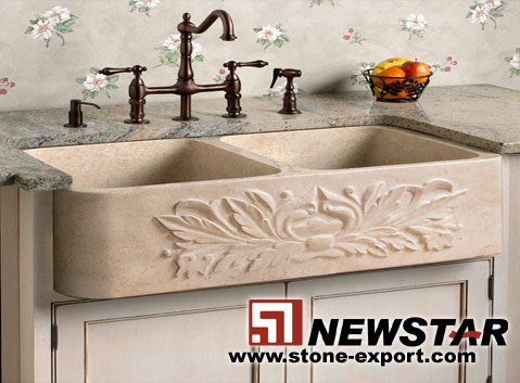 Bathroom Basin,Carved Stone Basin
