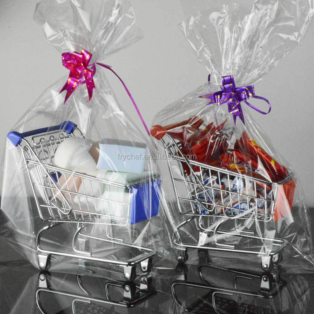 Novelty Mini Shopping Trolley Cart Basket Metal Gift For Sugers, Chocolates , Cakes Or maquillage Promote Sales Volume