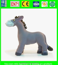 realistic vinyl animal toys, vinyl realistic plastic donkey, high quality 3d vinyl cartoon figure