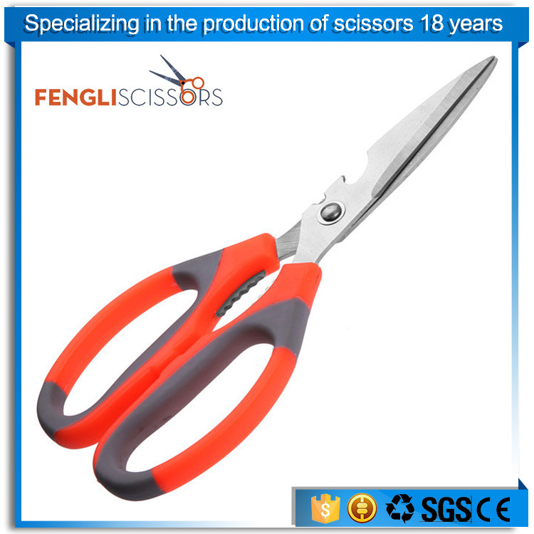 Strong bone & vegetable scissors with PP TPR handle
