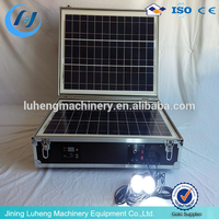 Manufacturer 150W portable home solar power generation system with 48Ah battery