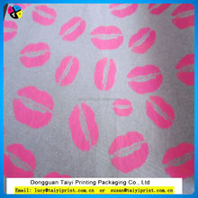 Wrapping tissue paper with company logo flower wrapping material