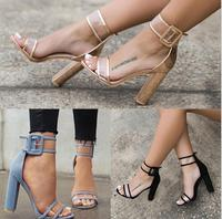 ZHB1403B 2017 High quality new fashion modern latest ladies high heel sandals shoe