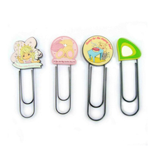 happy festival time promotion embossed pretty angle shape soft pvc angle paper clip