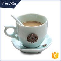Table ware coffee and tea porcelain ceramic cup and saucer sets