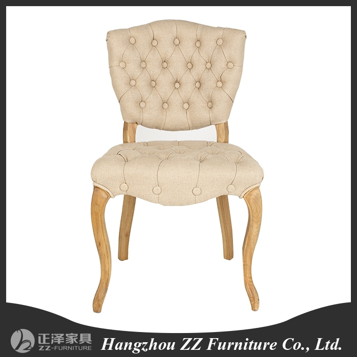 China Alibaba 2015 new desigh french script fabric chair
