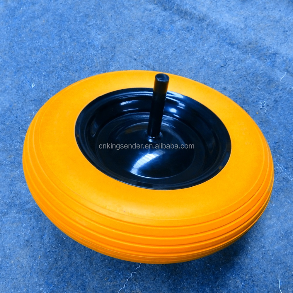 3.50-8 wheelbarrow and hand trolley PU foam flat wheel