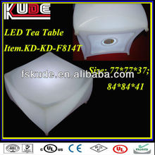 LED luminous furniture led plastic coffee table,modern coffee table