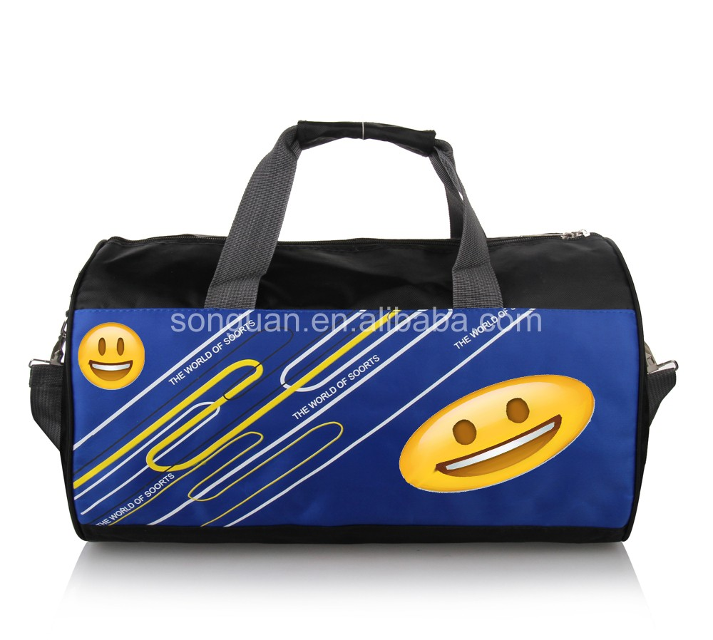 Custom men gym round duffle waterproof sport cylinder duffel bag