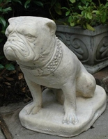Life size garden animal marble sculpture stone garden dogs hot sale