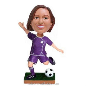 1/12 scale sport character bobble head doll, custom pvc bobble head doll, plastic make your own bobble head factory