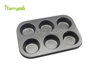 2016 Non-stick Carbon Steel 6 cup cake pan Muffin Baking Pan