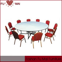 space saving white pvc tops steel legs banquet folding dining table