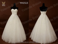 New Hot Sale 2015 Custom Made Shunning Lace Wedding Gowns