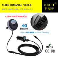 Noise cancelling Aux Bluetooth Receiver Handsfree Car Kit on Air Vent
