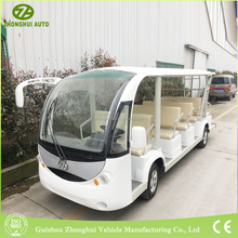 2017 new style design unclosed ecofriendly pure color resort tourist electric passenger car for sale