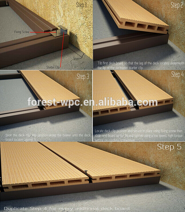 Plastic landscape timbers cheap composite decking terrace for Cheapest place for decking boards