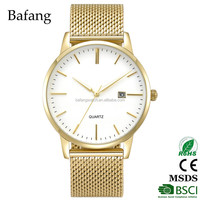 Japan GM10 movement new fancy oem design men luxury hand watch with golden color band