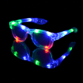 Transparent 4pcs color LED flashing Classic glasses