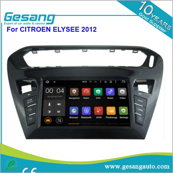 Android 5.1 system touch screen in-dash car dvd gps with dvd player for CITROEN ELYSEE 2012