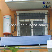 balcony hot water flat panel solar powered space heaters