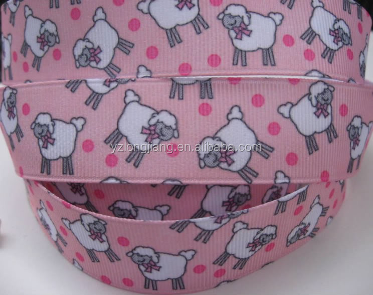 5cm dogs Printing Double Faced Satin Ribbon