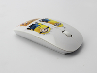 Cartoon style minions shape wireless computer mouse promotion gift items hot sales in alibaba