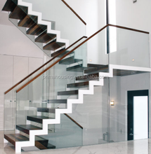 House Build Steel Glass Railing Wood Stairs Case Design Staircase Systems