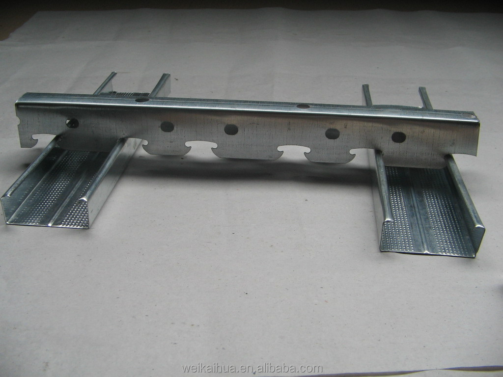 durable steel profile of drywall accessory with metal stud framing
