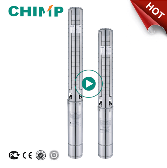CHIMP 4SP series multistage centrifugal submersible water pump