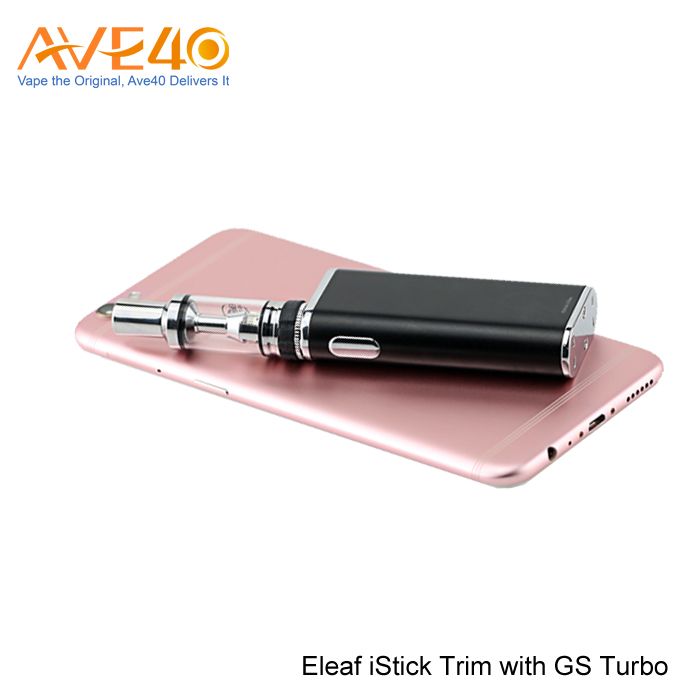 2017 new products vape cartridge Eleaf iStick Trim With GS Turbo Kit Vapor Starter Kits